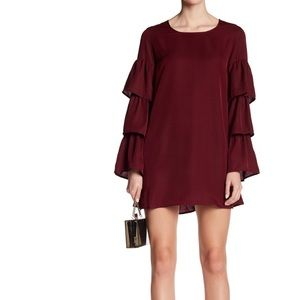 Lucca Couture Julia Tiered Ruffle Sleeve Dress XS